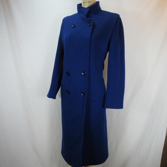 2948225d7a53d Forecaster of Boston Blue Long Wool Coat Vintage